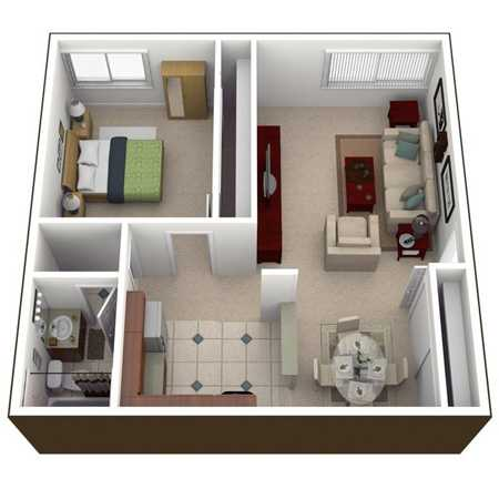 for 450 square foot apartment floor plan